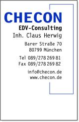 Checon EDV-Consulting Barer Straße 70 80799 München 089/27826981